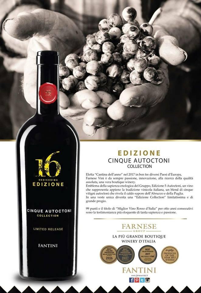 Nhập khẩu rượu vang Ý 16 Edizione Limited Release tại Hồ Chí Minh giá tốt nhất