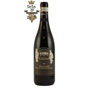 Rượu vang đỏ Villa Girardi Amarone Là sự kết hợp hoàn hảo của 3 giống nho, có hương vị ngọt ngào vị rượu có hậu vị tốt