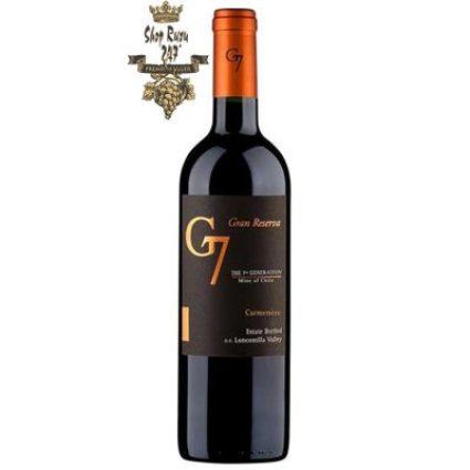Chân dung chai Rượu Vang Chile G7 Gran Reserva Carmenere