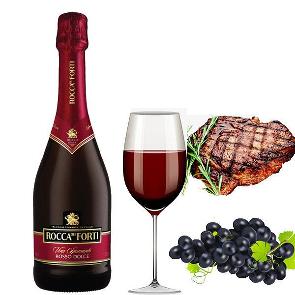 Rượu Vang Ý Rocca Dei Forti Rosso Dolce có màu đỏ đậm đặc. Nó là một loại rượu vang lấp lánh hấp dẫn với hương vị trái cây, hương thơm mãnh liệt
