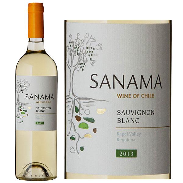 Rượu vang Chile Sanama Sauvignon Blanc được là sự pha trộn giữa loại nho Sauvignon Blanc, Chateau Los Boldos, Chile.