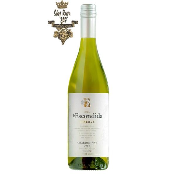 Vang Argentina Finca La Escondida Chardonnay có hương vị tươi mới với hương trái cây nhiệt đới đặc trưng của hương dứa