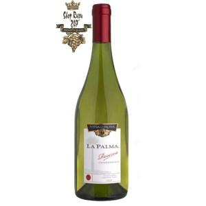 Rượu Vang Chile Trắng La Palma Reserva Chardonnay có mầu vàng rơm mạnh mẽ. Hương thơm của các loại hoa quả như dứa, bưởi và mận