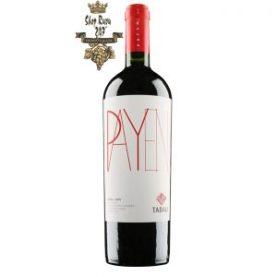 Rượu Vang Chile Đỏ Payen Tabali có mầu đỏ rực rỡ với ánh tím. Hương thơm trang nhã nhẹ nhàng của anh đào, quả việt quất, hoa violet