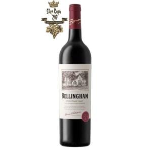 Vang Đỏ Nam Phi Bellingham Pinotage có hương vị từ những trái nho mang giống nho Pinotage, quả mâm xôi, quả mận chín, vị vani