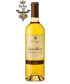 Vang Pháp Plaimont Saint Albert Pacherenc du Vic Bilh 50 cL White là dòng rượu vang trắng mang hương vị mộc mạc của trái cây họ cam, quýt