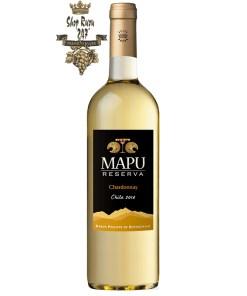 Rượu vang Chile Baron Philippe de Rothschild Mapu Reserva Chardonnay được là sự pha trộn giữa loại nho Chardonnay