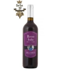 Rượu Vang Đỏ Bellamico Rosso Semi Sweet có màu đỏ ánh tím. Hương vị ngọt ngào, thơm ngon và nhẹ nhàng. Hương thơm nồng nàn phức tạp của các loại quả mọng chín đỏ