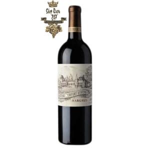 Rượu Vang Đỏ Pháp Chateau Durfort Vivens có màu đỏ ruby ánh tím. Hương thơm phức hợp và mãnh liệt, tinh tế của các loại trái cây