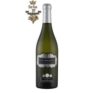 Rượu Vang Trắng Cortebianco Laguna Di Corte Viola có mầu vàng rơm. Hương thơm phong phú và nồng nàn của cam quýt, táo