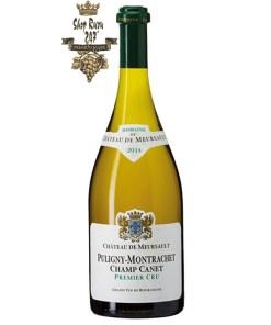 Puligny Montrachet Champ Canet có mầu vàng rơm. Hương thơm phức tạp của các loại hoa và một số loại trái cây chín.