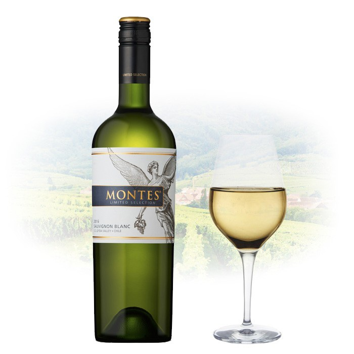 Vang Chile Montes Limited Selection Sauvignon Blanc có mầu vàng rơm rực rỡ. Hương vị của các loại trái cây vùng nhiệt đới như dứa tươi,