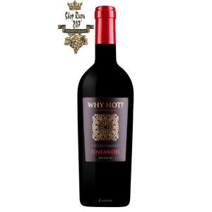 Rượu Vang Đỏ Why Not Negroamaro Primitivo có mầu đỏ ruby đậm sâu. Hương thơm quyến rũ của hoa quả chín như anh đào, mận, phúc bồn tử kết hợp với hương hoa hồng và vani.