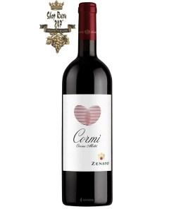 Rượu Vang Ý Zenato Cormi Corvina Merlot có mầu đỏ hồng ngọc. Hương thơm của các loại trái cây của quả mọng đen và anh đào đen.