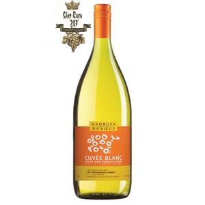 Georges Duboeuf Cuvée White đã để lại ấn tượng khá sâu sắc với màu vàng rơm rực rỡ. Nhưng hơn thế, cơ thể chúng lan tỏa mùi hương tuyệt vời