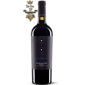 Rượu vang Luccarelli Negroamaro (Rượu vang 3 sao Luccarelli) sở hữu hương vị đặc trưng của trái cây chín, quả mâm xôi, dâu đen