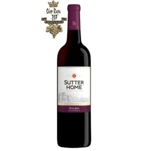 Sutter Home Malbec có mầu đỏ đẹp mắt. Khi bạn đang tìm một loại rượu vang đỏ kết hợp hoàn hảo với món bít tết,