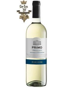 Rượu Vang Trắng FARNESE Primo Malvasia - Chardonnay có mầu vàng rơm tươi sáng. Hương thơm của chuối và quả sung.