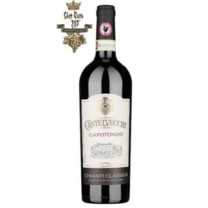 Rượu Vang Đỏ Castelvecchi Gran Selezione Chianti Classico Madonnino có mầu đỏ ruby sâu. Hương thơm của trái cây, gia vị, vani và hạt tiêu đen