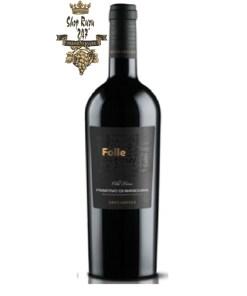 Rượu Vang Ý Đỏ FARNESE Folle Primitivo có màu đỏ anh đào. Hương vị phức hợp của trái cây, mứt, anh đào, mận