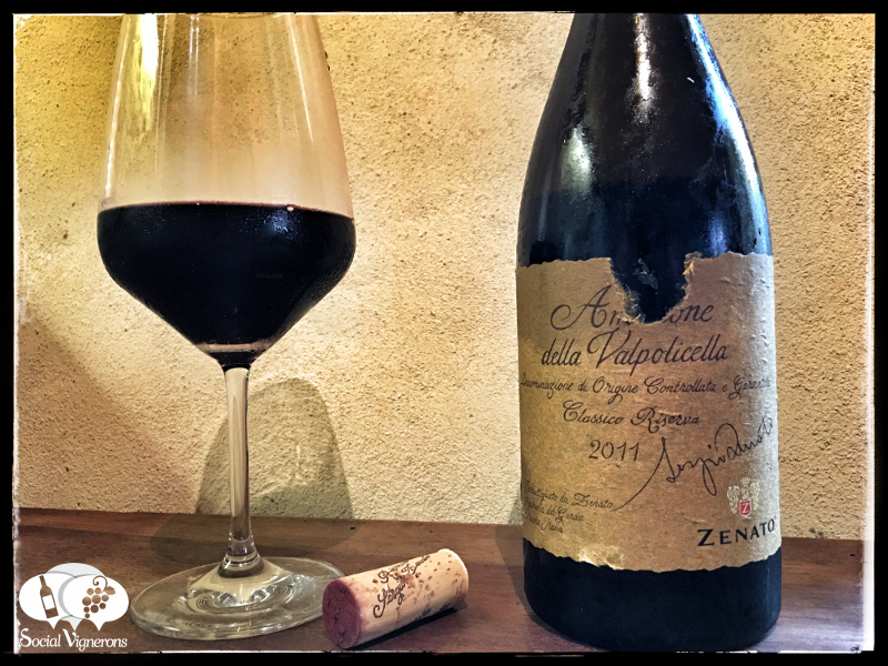 Nhãn chai rượu Zenato Amarone Della Valpolicella Sergio Riserva DOCG