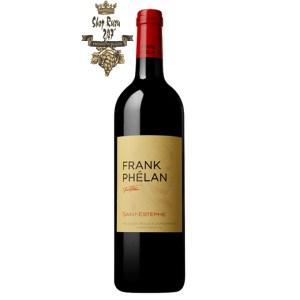 Rượu Vang Chateau Frank Phelan 2nd wine Château Phelan Segur được tạo ra vào năm 1986, Frank Phélan mang tên của con trai của Bernard Phélan