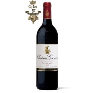 Rượu Vang Đỏ Chateau Giscours Margaux Grand Cru Classe 2011 có mầu tím hồng đậm. Hương thơm của các loại trái cây
