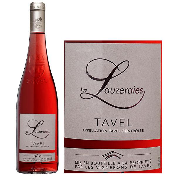 """Rượu vang đỏ Pháp Les Lauzeraies Tavel Rose 2019 là một """"bông hồng nguyên bản"""" được sản xuất bởi một loại rượu vang"""
