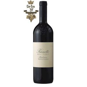 Rượu Vang Ý Prunotto Bric Turot Barbaresco DOCG có mầu đỏ ruby nổi bật. Hương thơm tinh tế, quyến rũ của rượu vang