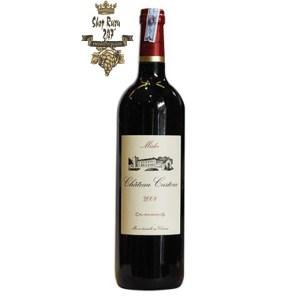Rượu Vang Đỏ Pháp Chateau Castera Aoc Medoc Cru Bourgeois Superieur có màu đỏ đậm sâu, hương vị thanh mát, dẻo dai đem đến hương thơm