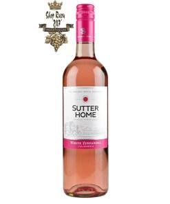 Rượu Vang Mỹ Sutter Home White Zinfandel có mầu hồng đẹp mắt. Rượu vang này ngon ngọt của dâu tây và dưa hấu