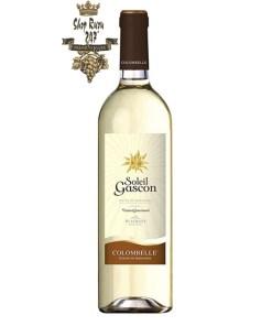 Rượu vang Pháp Plaimont Soleil Gascon Cotes de Gascogne IGP là dòng rượu vang trắng thanh lịch, cá tính với nồng độ vừa phải