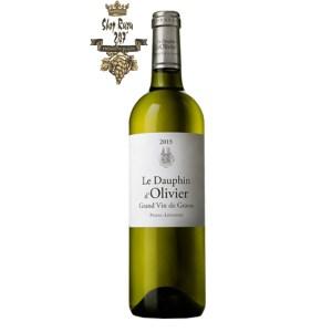Rượu vang Pháp Le Dauphin D'Olivier 2nd wine Château Olivier Pessac Leognan White, được là sự pha trộn giữa các loại nho Sauvignon Blanc – Semillon,