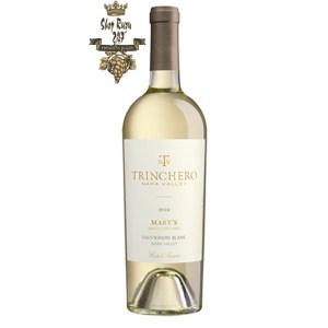 Vang Trắng Mỹ Trinchero Mary Sauvignon Blanc có mầu vàng rơm. Rượu vang nổi bật này tôn vinh người mẹ
