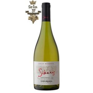Rượu Vang Trắng Undurraga Sibaris Chardonnay này được làm từ 100% giống nho Chardonnay được trồng tại vườn nho Leyda Valley
