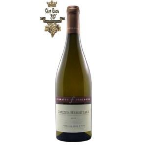 Rượu Vang Pháp Trắng La Matiniere Marsanne Crozes-Hermitage Ferraton Pere & Fils có mầu vàng nhạt ánh xanh. Hương thơm cho thấy