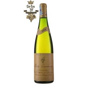 Rượu Vang Trắng Rolly Gassmann Gewürztraminer Oberer Weingarten de Rorschwihr có mầu vàng sáng rực rỡ. Hương thơm mãnh liệt