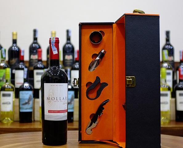 Vang Chile Đỏ Mollar Cabernet Sauvignon có màu đỏ đậm. Hương thơm nổi trội nhất là hương thơm của các loại hoa quả chin dỏ như cherry