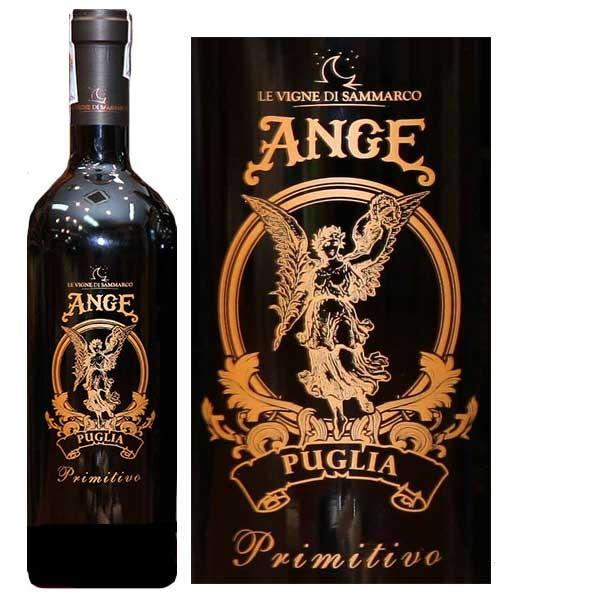 Rượu Vang Thiên Thần - Ange Puglia Primitivo 18 độ có màu đỏ hồng ngọc đậm, rất trong sang và đẹp mắt