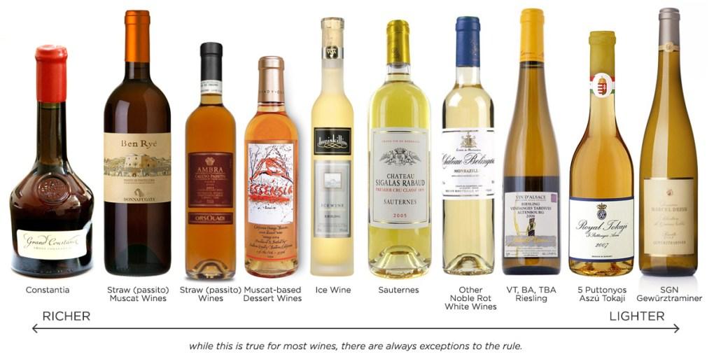 Rượu vang ngọt đậm đà được làm bằng những trái nho chất lượng cao nhất theo phong cách không pha trộn. Nhiều loại rượu trong số này có thể
