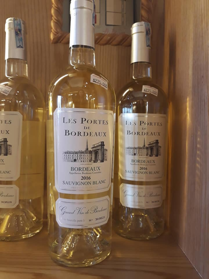 Vang trắng Les Portes de Bordeaux Sauvignon Blanc 2