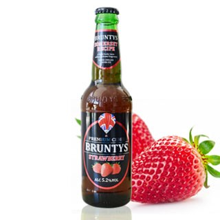 Bia trái cây bruntys-strawberry