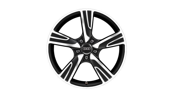 Cast aluminium winter wheel in 5-arm velum design