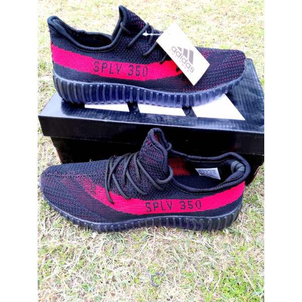 fake yeezy red stripe