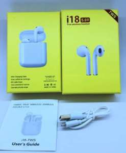buy best quality twin i18 with popup window wireless bluetooth earphone v5.0 at low price by shopse.pk in pakistan 1
