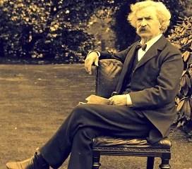 Марк Твен в саду