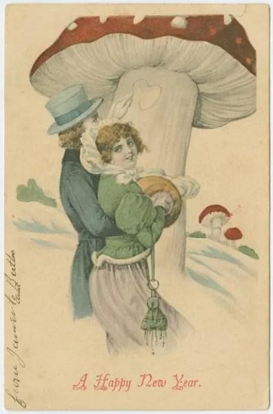 Старые новогодние открытки 11