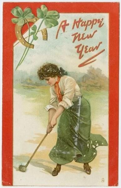 Старые новогодние открытки 13