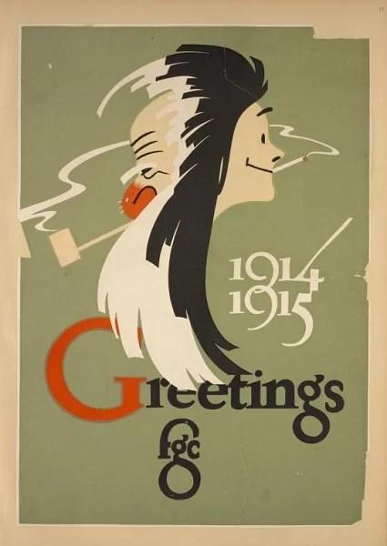 Старые новогодние открытки 23