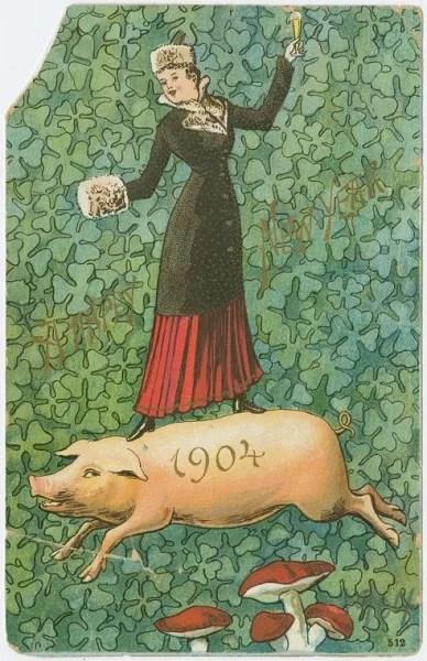Старые новогодние открытки 3